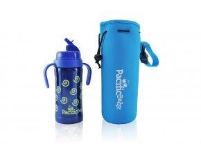 Pacific Baby - termoobal + ochrana lahve modrý