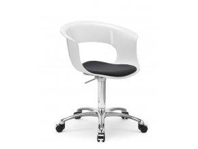 SCAB - plastová židle s polštářkem MISS B OFFICE