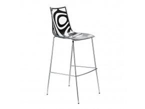 SCAB - plastová barová židle WAVE, fixní výška 80 cm