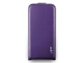 NavJack Trellis Series Flip Case pouzdro pro iPhone 5/5S - Cobalt Violet