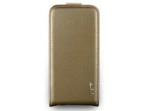 NavJack Trellis Series Flip Case pouzdro pro iPhone 5/5S - Misty Gold
