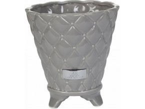 Lene Bjerre - květináč PRECIOUS 18 cm šedý