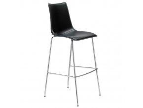 SCAB - barová polstrovaná židle ZEBRA POP, fixní výška 80 cm