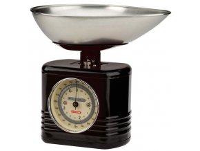 Typhoon - Kuchyňská váha Vintage Scales černá