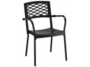 SCAB - plastová židle LULA s područkami