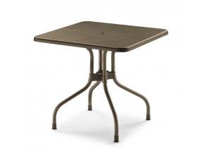 SCAB plastový zahradní čtvercový stůl OLIMPO, top 80 x 80 cm