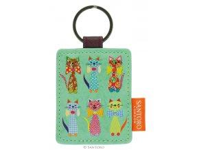 SANTORO - přívěšek na klíče Cats With Bowties