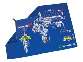 Lifeventure ručník Printed SoftFibre Trek Towels WORDS