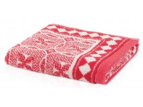 Möve - ručník CAPRI ALLOVER červený