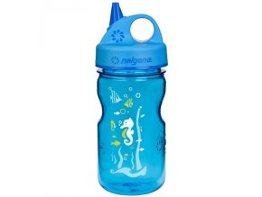 NALGENE - dětská láhev Grip'n Gulp 350 ml Blue Seahorse