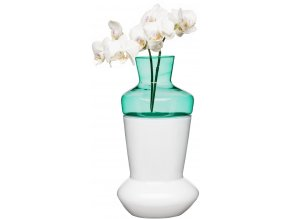 SAGAFORM dvojdílná váza DUO bílá/tyrkysová