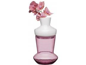 SAGAFORM dvojdílná váza DUO vínová/bílá
