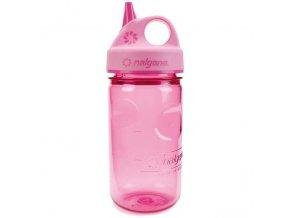 Odolná láhev pro děti a batolata Nalgene růžová s praktickým pítkem
