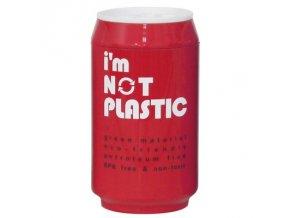 I'M NOT PLASTIC - ekologický termohrnek 280 ml červený