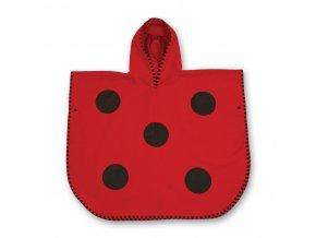 LittleLife dětský plážový ručník Ultralight Poncho Towels Ladybird