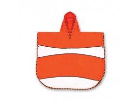 LittleLife dětský plážový ručník Ultralight Poncho Towels Clownfish