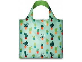 LOQI - skládací nákupní taška Cactus by Ana Seixas