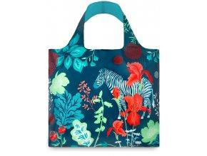 LOQI - skládací nákupní taška Zebra