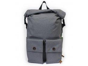 PKG batoh DRI Rolltop Backpack - světle šedý