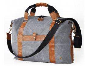 """PKG taška Red Crown Digital Duffle Bag pro MacBook 13"""" a 15"""" - šedá/hnědá"""