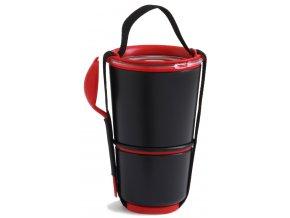 BLACK-BLUM box na jídlo Lunch Pot černý/červený
