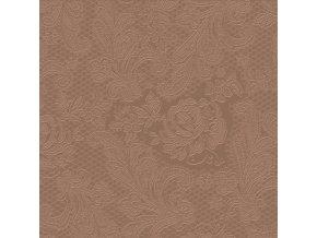 PPD - papírové ubrousky Lace Embossed chocolat
