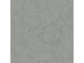 PPD - papírové ubrousky Lace Embossed šedý stín