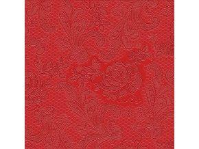 PPD - papírové ubrousky Lace Embossed červené