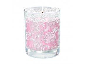 PPD  - svíčka Lace Royal růžová