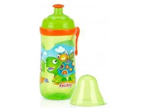 NUBY sportovní lahev Pop-Up 360 ml, 18m+ zelená