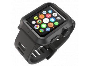 Lunatik EPIK pro Apple Watch 42 mm - černý polykarbonát, černý silikon