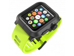 Lunatik EPIK pro Apple Watch 42 mm - černý polykarbonát, zelený silikon