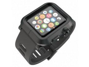 Lunatik EPIK pro Apple Watch 42 mm - černé aluminium, černý silikon