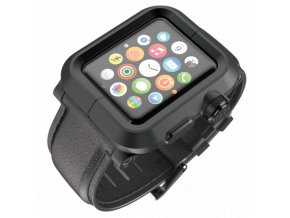 Lunatik EPIK pro Apple Watch 42 mm - černé aluminium, černá kůže