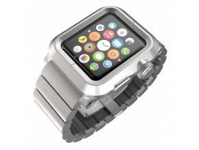 Lunatik EPIK Metal Link pro Apple Watch 42 mm - stříbrné aluminium, stříbrný kov