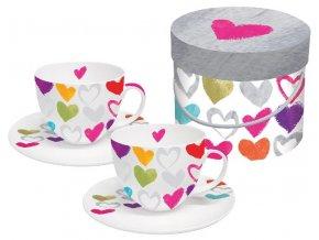 PPD - Cappucino šálky Hearts