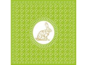 PPD - papírové ubrousky Medaillon zajíc limetkové