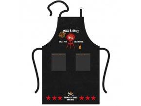PPD zástěra Grill & Chill černá