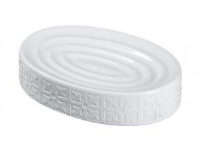 Möve - podložka pod tuhé mýdlo CAPRI bílá