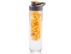 Loooqs láhev s košíkem na ovoce 800 ml oranžová