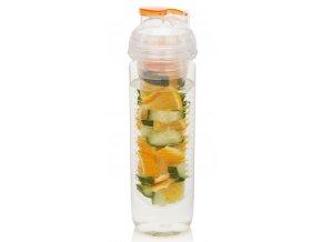 Loooqs láhev s košíkem na ovoce 500 ml oranžová