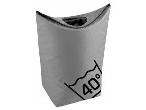 ZONE - koš na prádlo šedý