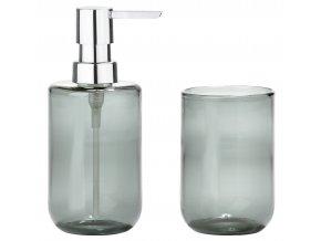 ZONE  - dávkovač mýdla a kelímek OCEAN šedý