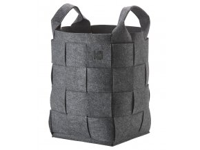 ZONE - koš na prádlo Hide tmavě šedý výška 55 cm