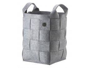 ZONE - koš na prádlo Hide světle šedý výška 55 cm