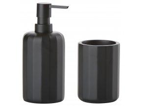 ZONE - dávkovač mýdla a kelímek GRAPHIC černý