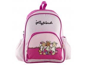 NICI  batůžek Jolly Friends růžový s puntík
