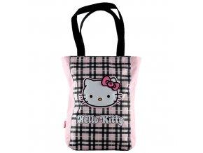 Hello Kitty taška přes rameno růžovo-černé kostky