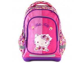 Hello Kitty školní batoh květinový vzor