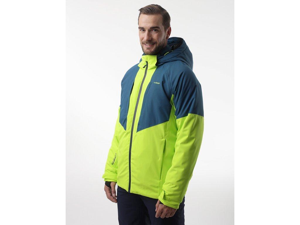 28496 loap flin panska lyzarska bunda zelena modra olm2013p59l